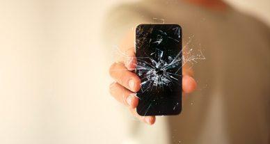 tela quebrada iphone
